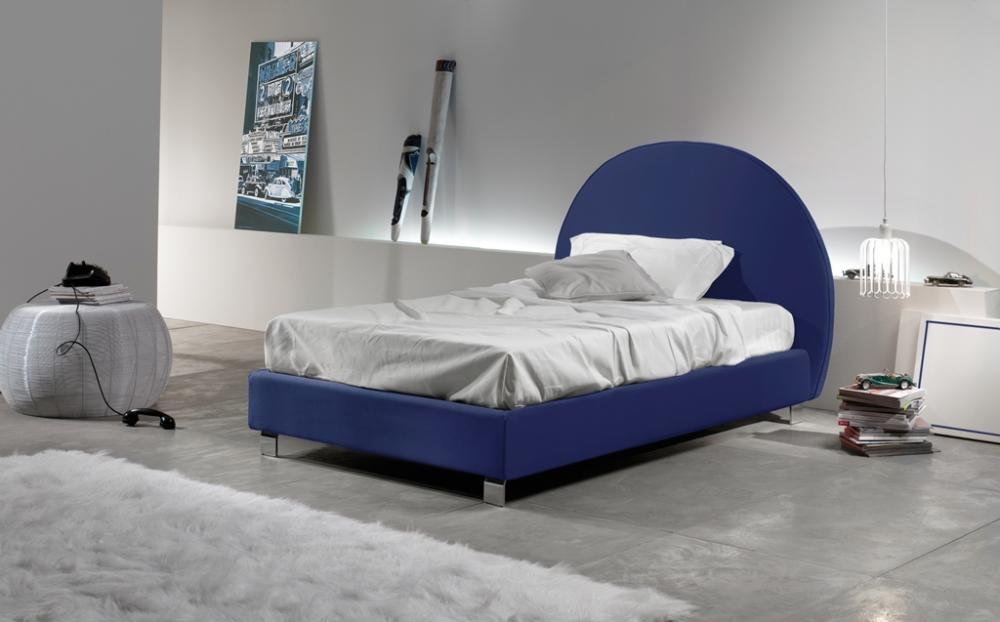 Letto Singolo Rond In Ecopelle