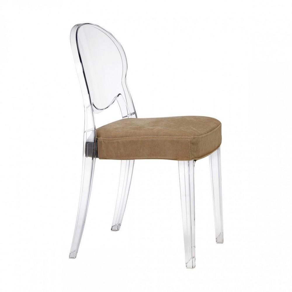 Cuscino imbottito in tessuto per sedie scab design for Sedie design policarbonato