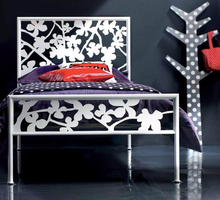 Letto incanto singolo in ferro battuto di cosatto in vari colori e finiture - Camera letto singolo ...