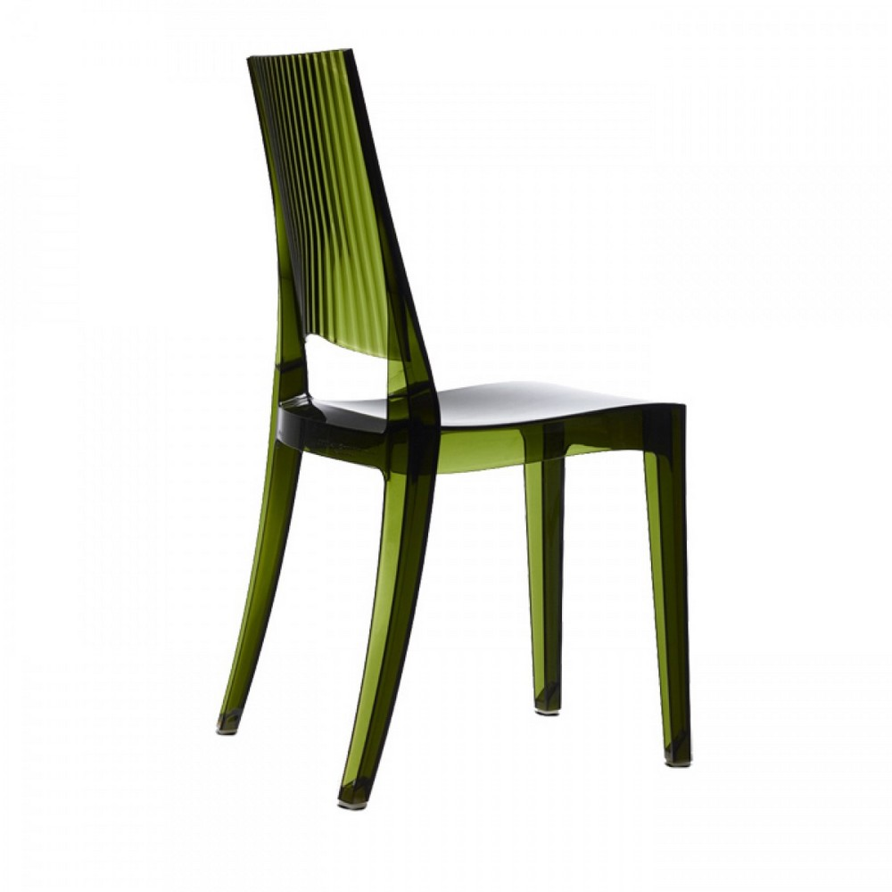 Sedia in plastica glenda di scab design per uso interno ed for Sedie plastica trasparente design