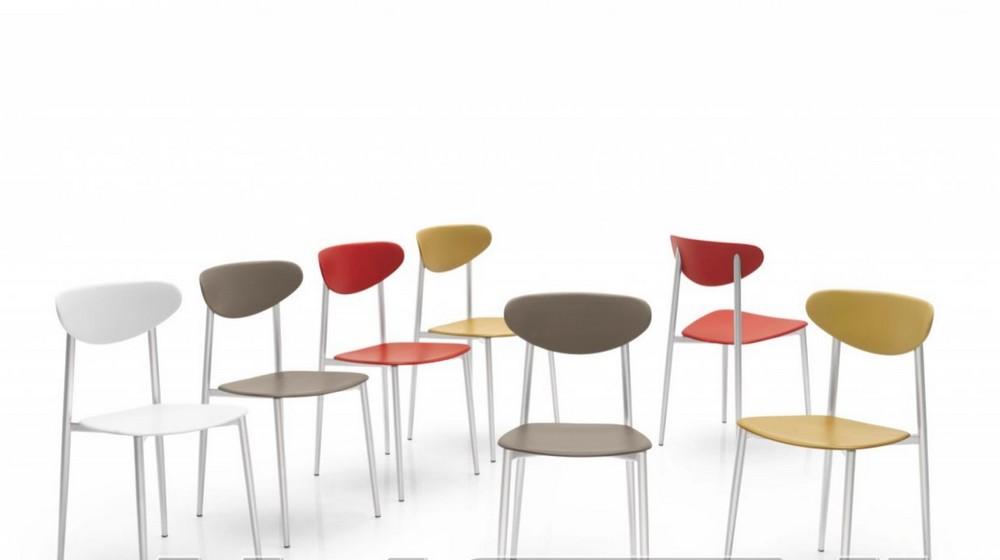 Sedia graffiti di callugaris con struttura metallo sedile for Connubia sedie