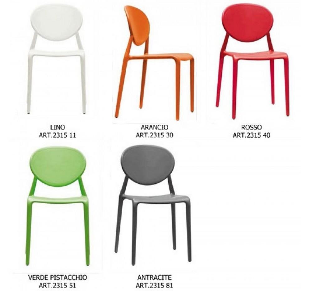 Sedia in plastica impilabile gio di scab design per uso for Sedie di marca
