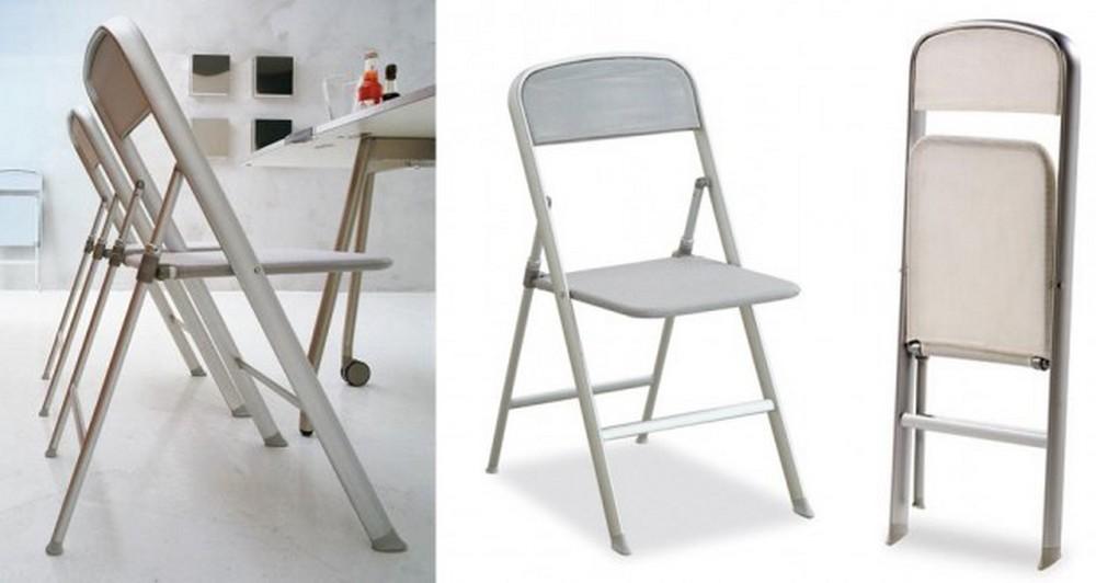 sedia pieghevole alu di calligaris con struttura in alluminio On sedie pieghevoli calligaris