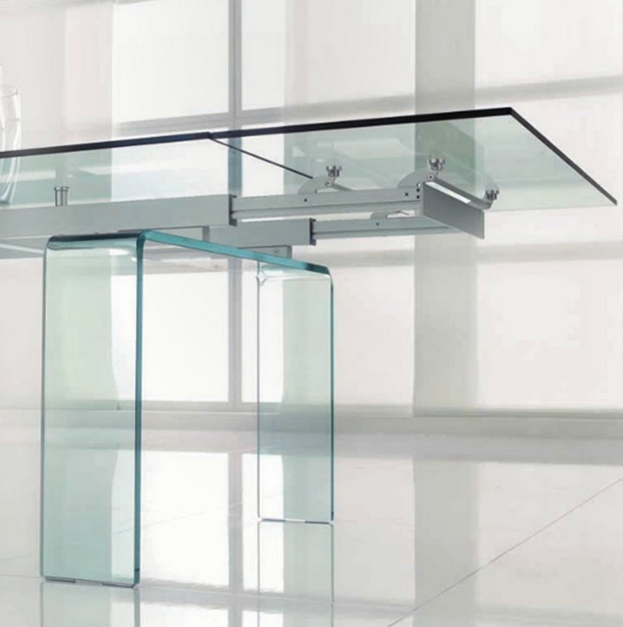 Tavolo allungabile in vetro Temple di Tonin casa di design ...