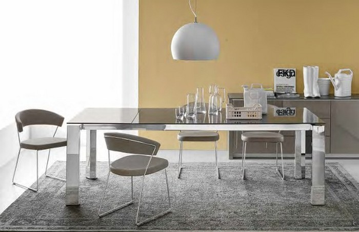 Tavolo gate allungabile di connubia by calligaris con for Calligaris tavolo vetro