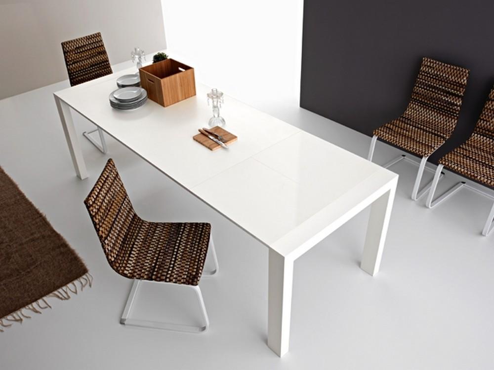 Tavolo Allungabile Gambe Sciabola Ghost Miniforms : Tavoli di cristallo allungabili tavolo allungabile
