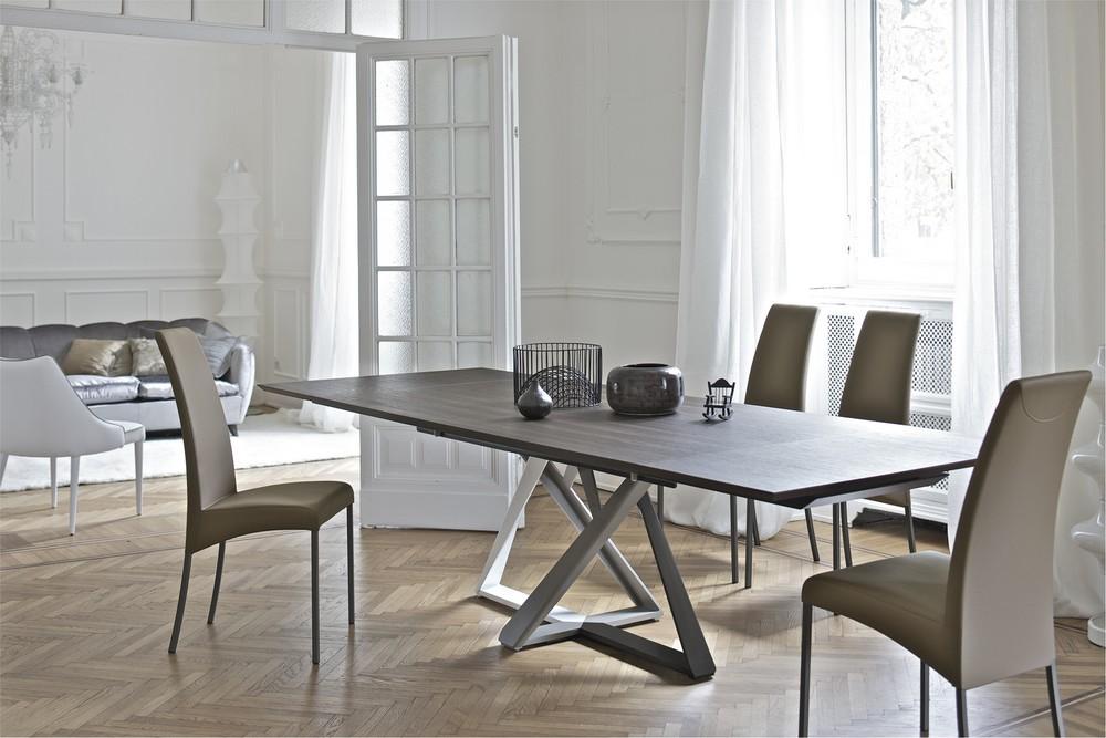 Tavolo bontempi millennium allungabile fisso o rotondo con for Tavoli rettangolari moderni