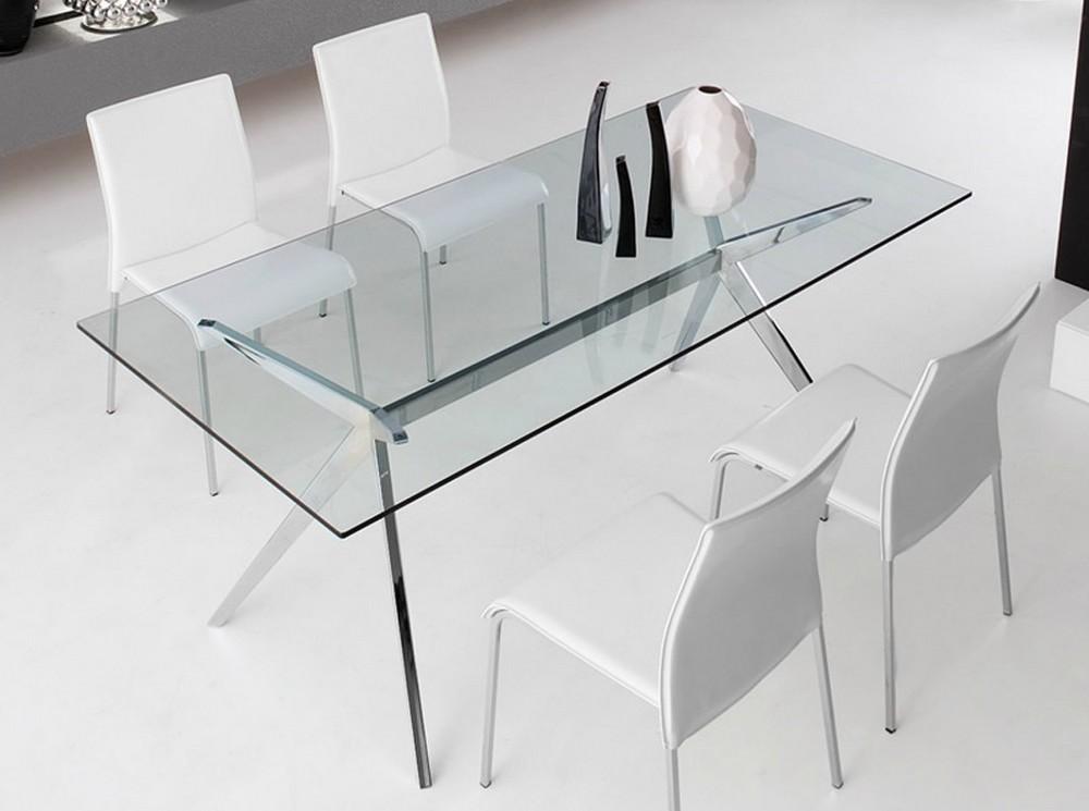 Tavolo fisso seven di connubia by calligaris con piano in vetro temperato - Tavolo calligaris vetro ...