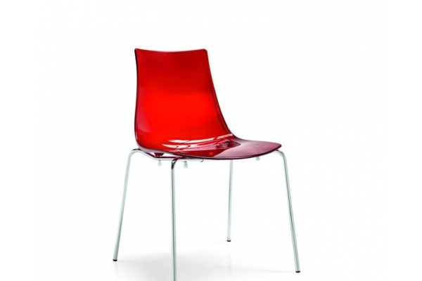 Sedie in plastica colorate moderne impilabili per interno for Sedie plexiglass calligaris