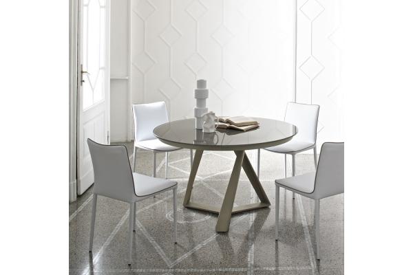 Tavoli fissi in legno in vetro e in tante altre finiture for Tavolo rotondo allungabile cristallo