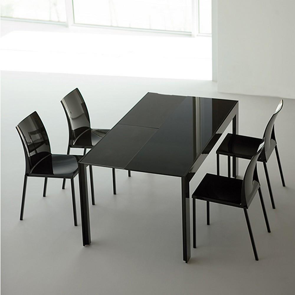 Tavolo In Vetro Nero Allungabile.Consolle Allungabile Matrix Di Pedrali