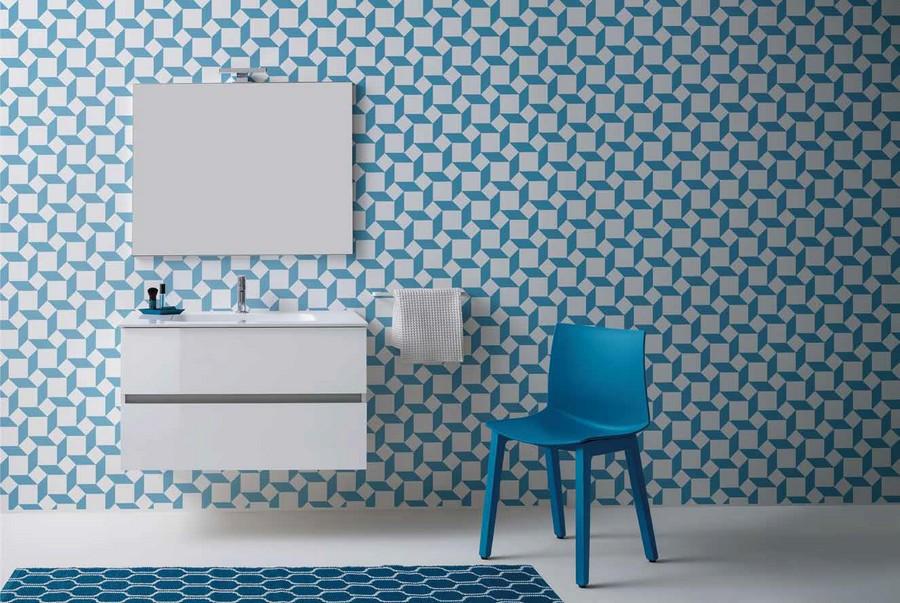 Bagno Elegante E Moderno.Mobile Da Bagno Tris Di Kios In Effetto Legno Elegante E Moderno