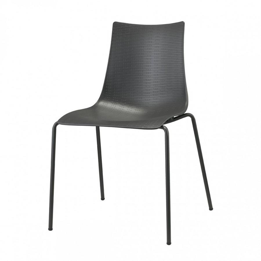 Sedia Bella Intrecciata di Scab Design con struttura in acciaio e seduta in polipropilene