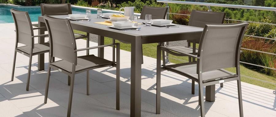 Set tavolo allungabile Touch e sedie Maiorca di Talenti per esterno