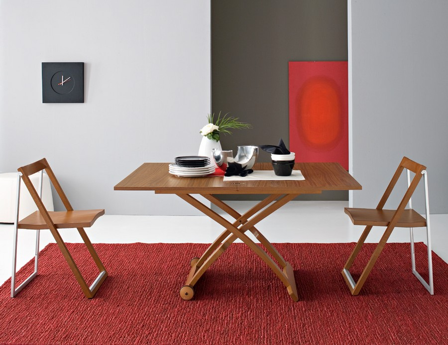Tavolino House Calligaris.Tavolino Regalabile In Altezza In Legno Mascotte Di Connubia By Calligaris
