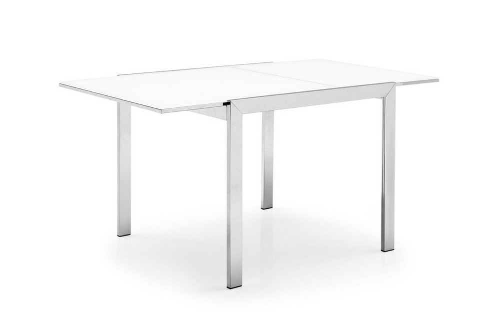 Tavolo allungabile Key di Connubia by Calligaris con piano in vetro