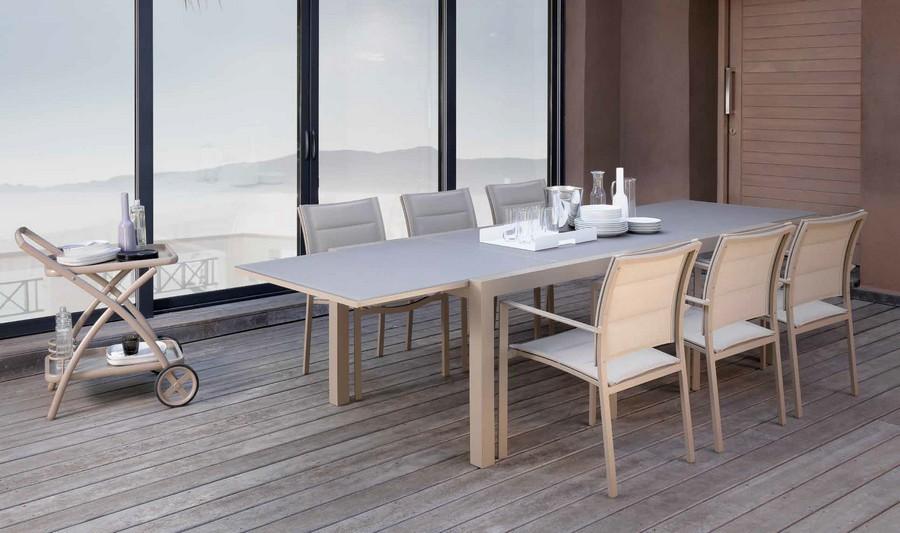 Tavolo da pranzo allungabile Touch di Talenti per esterno