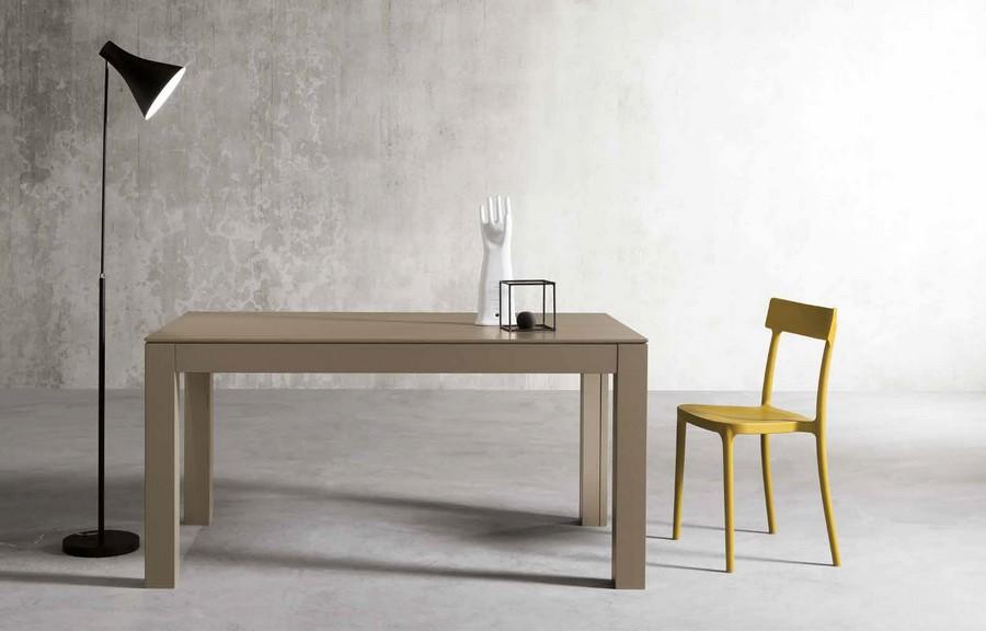Tavolo moderno Office con piano in impiallacciato noce
