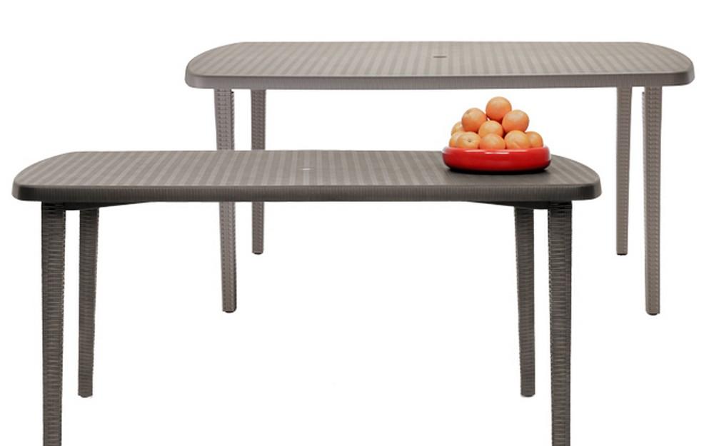 Tavoli Di Plastica Da Giardino.Tavolo Orazio Di Scab Design Cm160 In Plastica Ideale Per Giardino