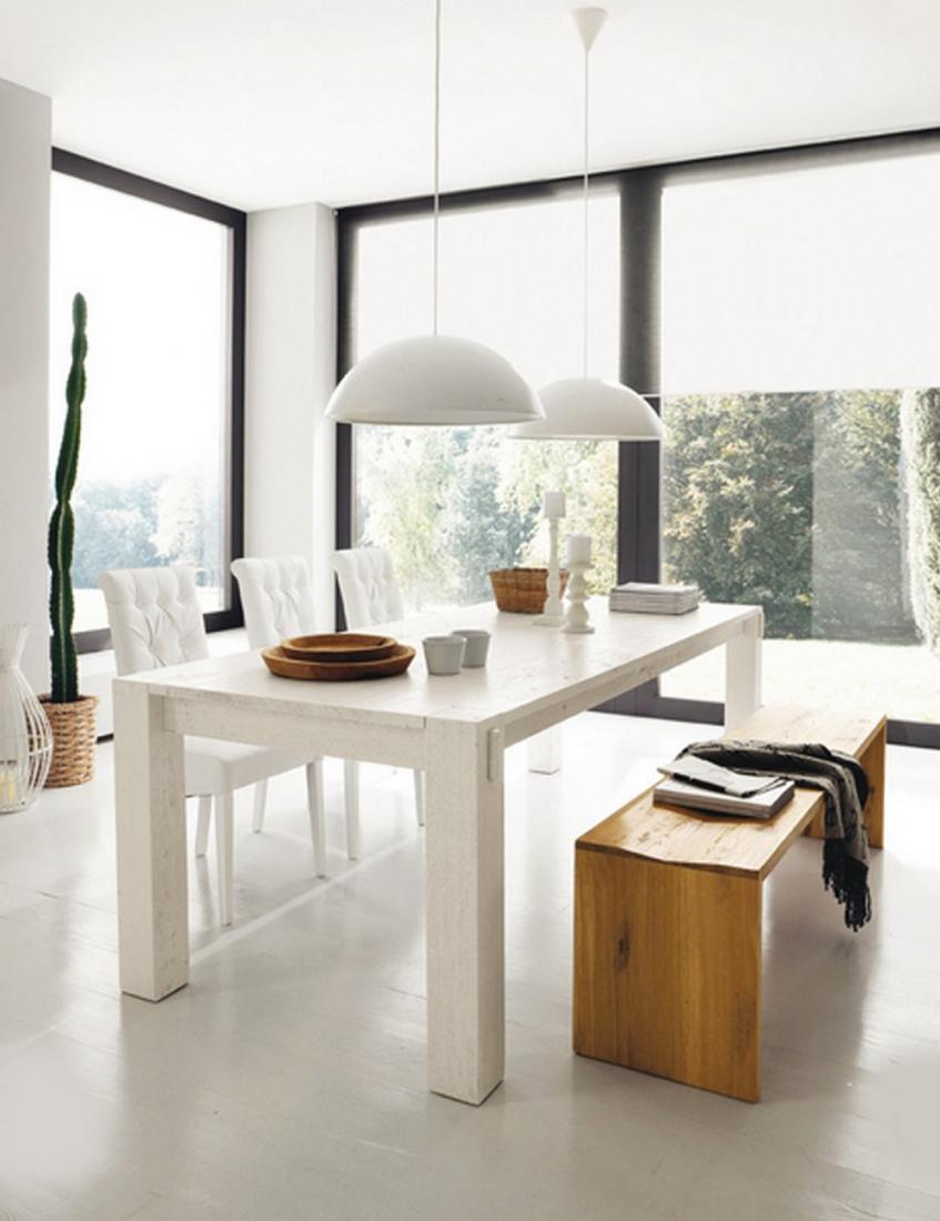 Tavolo Bianco In Legno tavolo stoccolma fisso di altacorte in legno