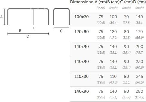 Tavolo Badu Di Midj Allungabile In Diverse Dimensioni