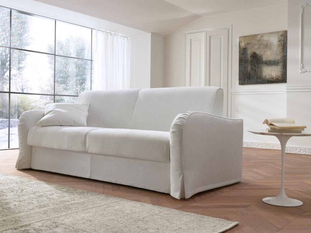 canap lit pour deux personnes recouvertes de tissus janis. Black Bedroom Furniture Sets. Home Design Ideas