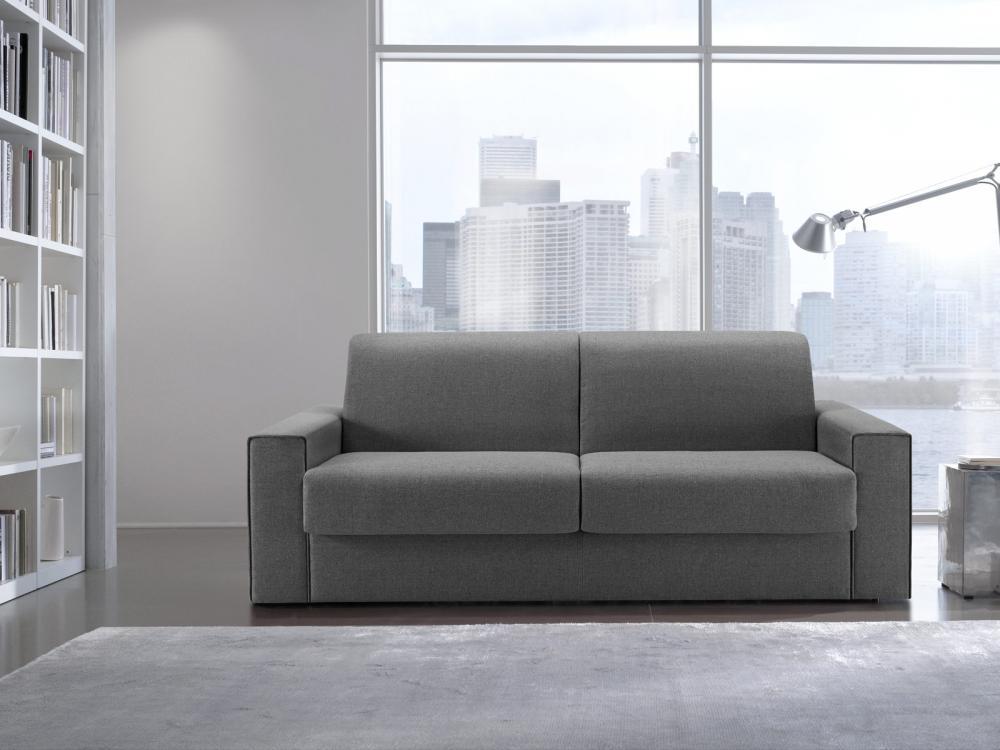 Divano letto Mick, divano a 2 posti, in tessuto, completamente ...