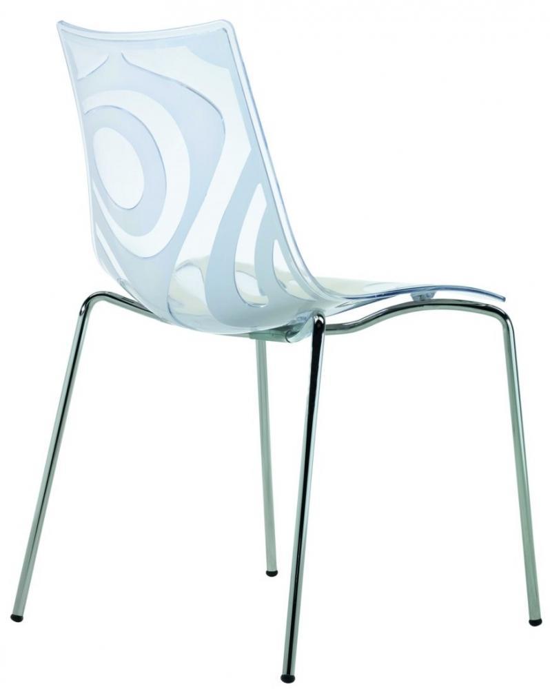 Sedia wave a 4 gambe in plastica struttura acciaio for Sedie in plastica design
