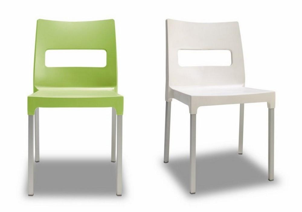 Maxi Diva Chaise Empilable Par Scab Design Lin Polymere Et Vert