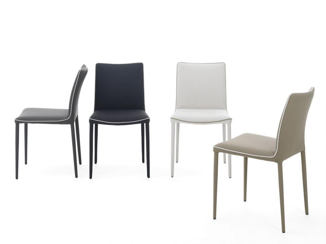 sedia nata di bontempi con struttura in acciaio rivestite
