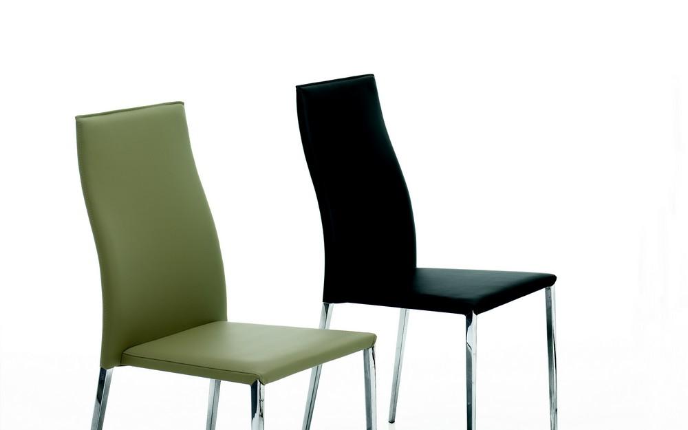 Sedia Moderna Cuoio Dalila Bontempi : Sedia imbottita tai bontempi rivestita in ecopelle e cuoio