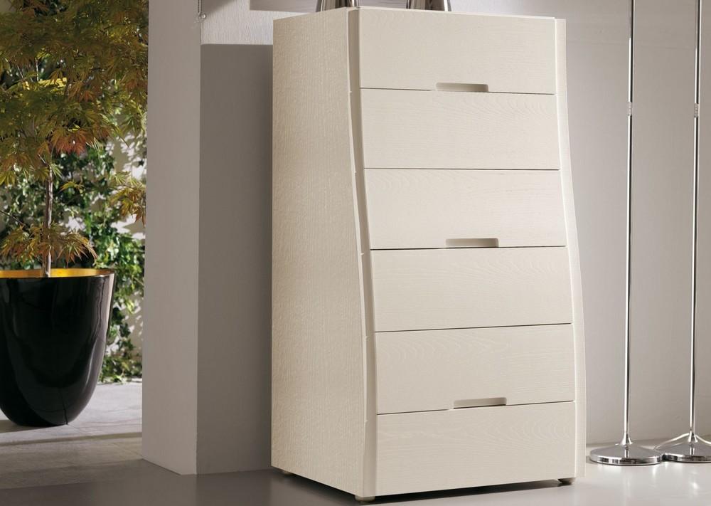 cassettiera settimanale in legno musa di napol a 6 cassetti