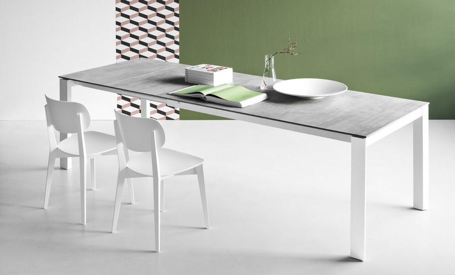 eminence extendable table 130 cm by connubia with melamine top