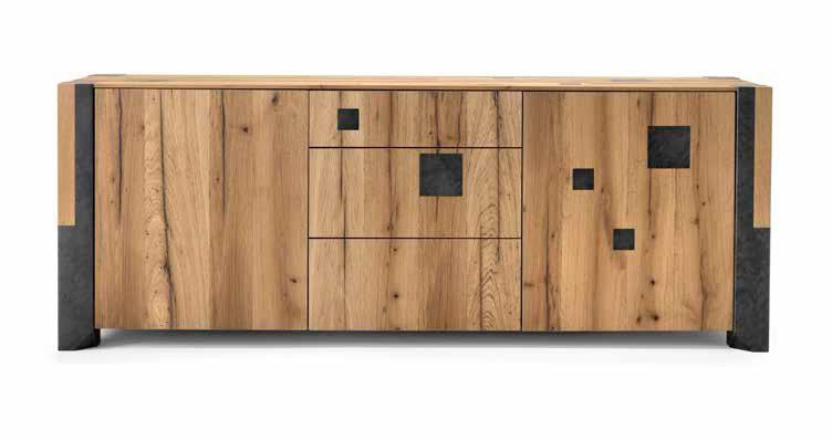 Credenza Per Esterno In Legno : Credenza da salotto o soggiorno a 2 3 ante in legno rovere vecchio