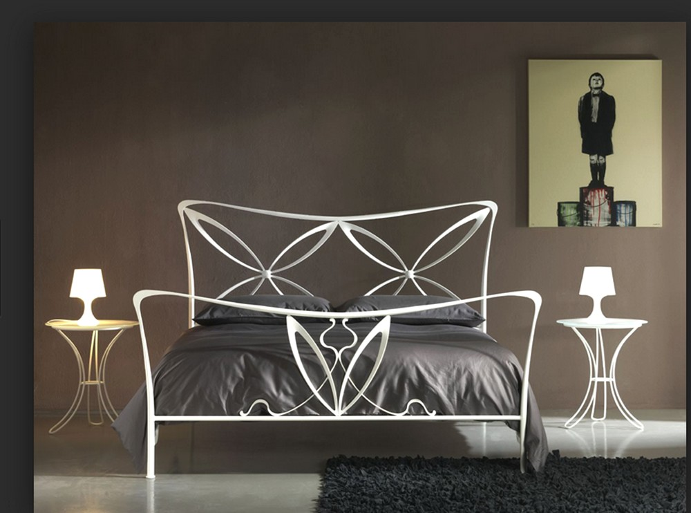 alice double bed wrought iron cosatto