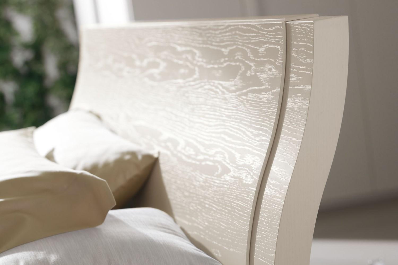 Letto matrimoniale in legno clio di napol - Letto in legno bianco ...