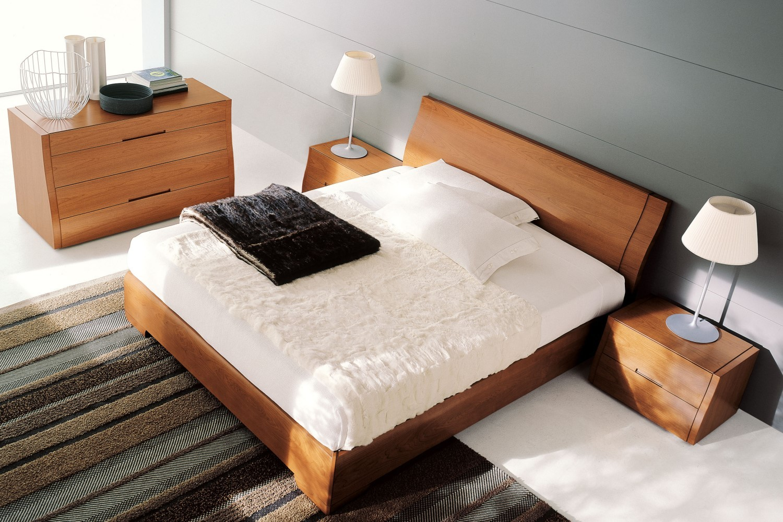 Letto matrimoniale in legno clio di napol - Camera da letto in ciliegio ...