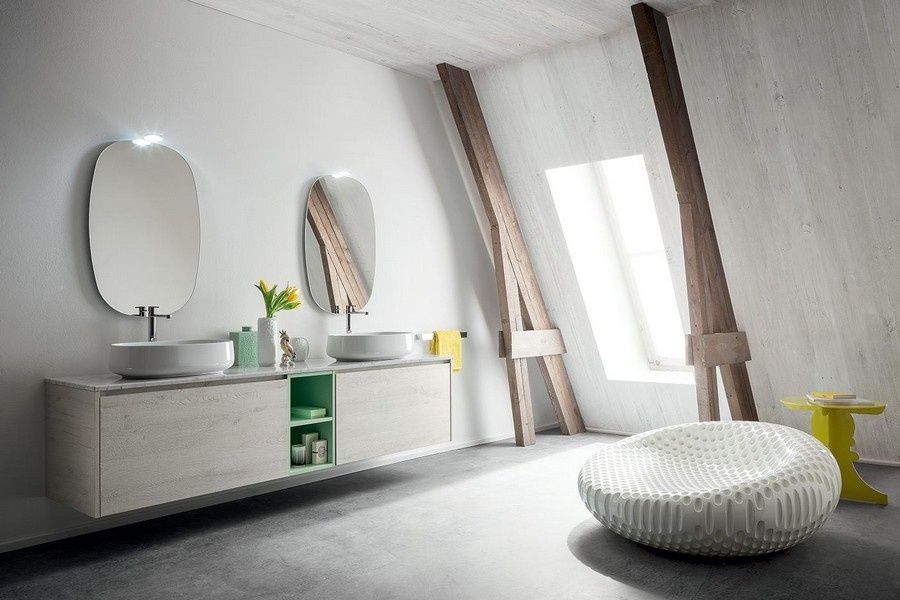 Mobile da bagno pandora di kios elegante e moderno for Arredo bagno moderno elegante