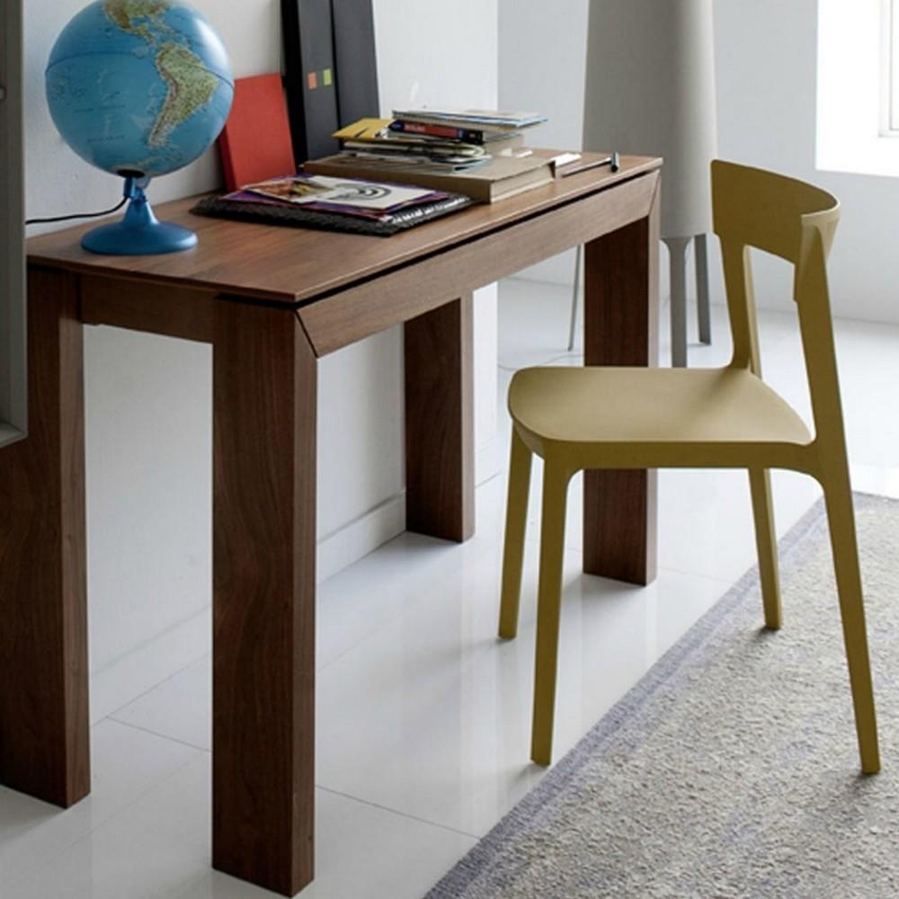 Tavolo a consolle sigma di calligaris 49 x 100 allungabile - Tavolo consolle allungabile legno ...