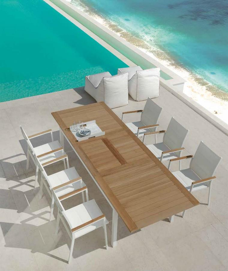 Poltrona da pranzo timber di talenti per esterno - Tavoli impilabili per esterno ...