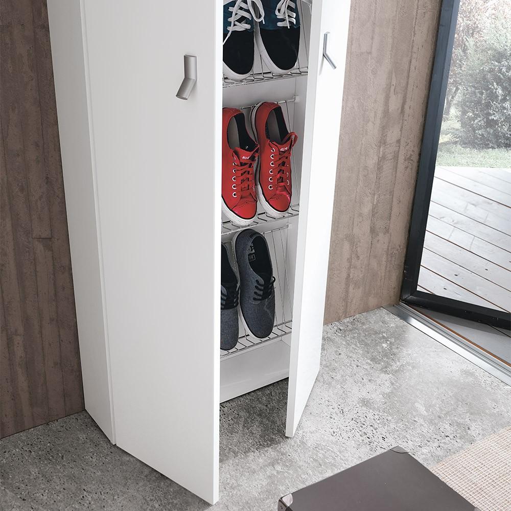 Scarpiera per scarpe in melaminico bianco di geromin - Portascarpe a parete ...