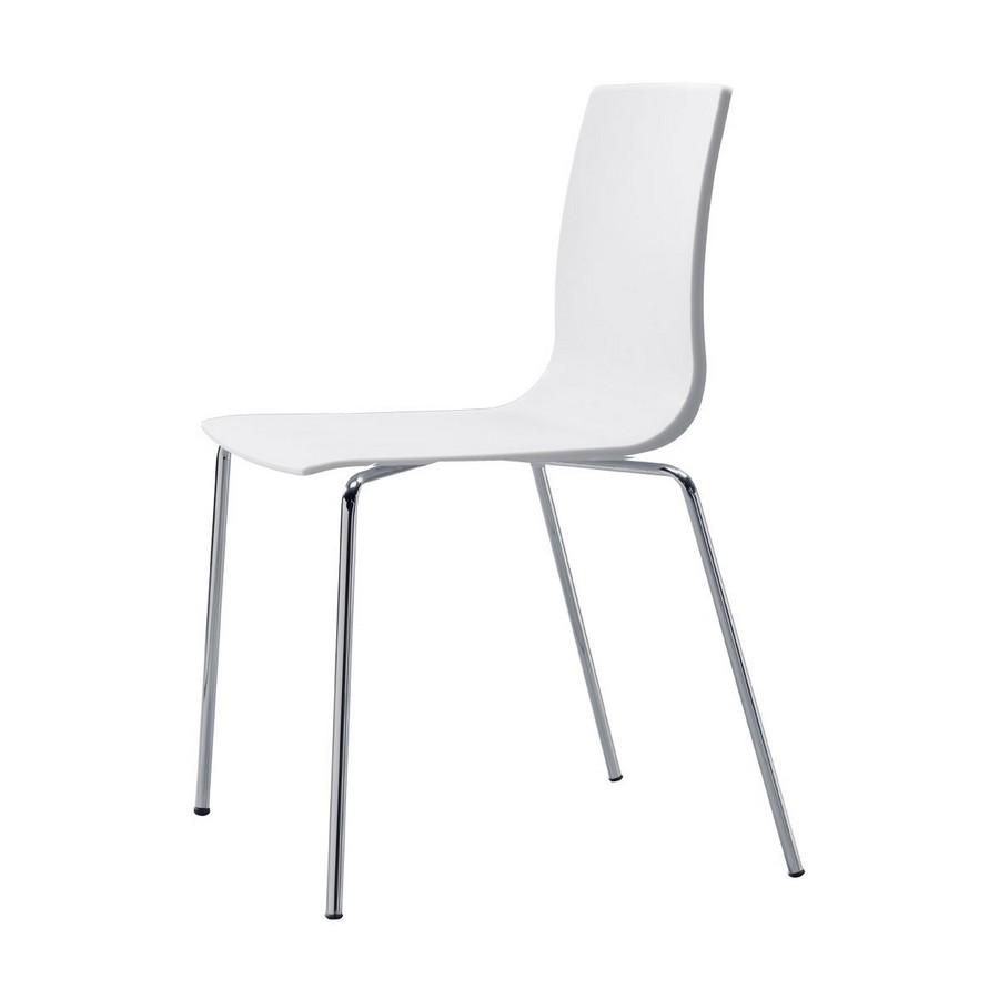 Sedia alice chair 4 gambe di scab design in polipropilene struttura in acciaio - Sedia polipropilene impilabile ...