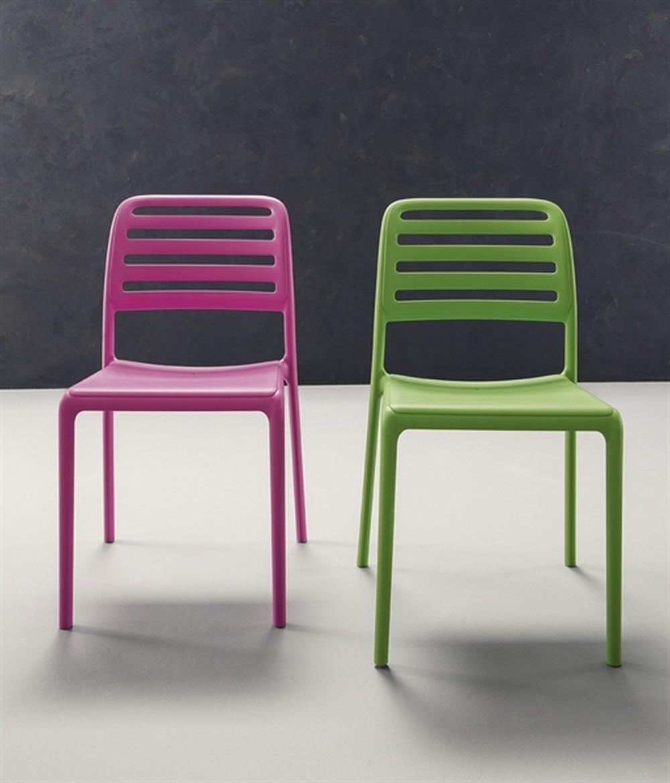 Sedia clio impilabile con struttura in polipropilene in vari colori - Sedia polipropilene impilabile ...