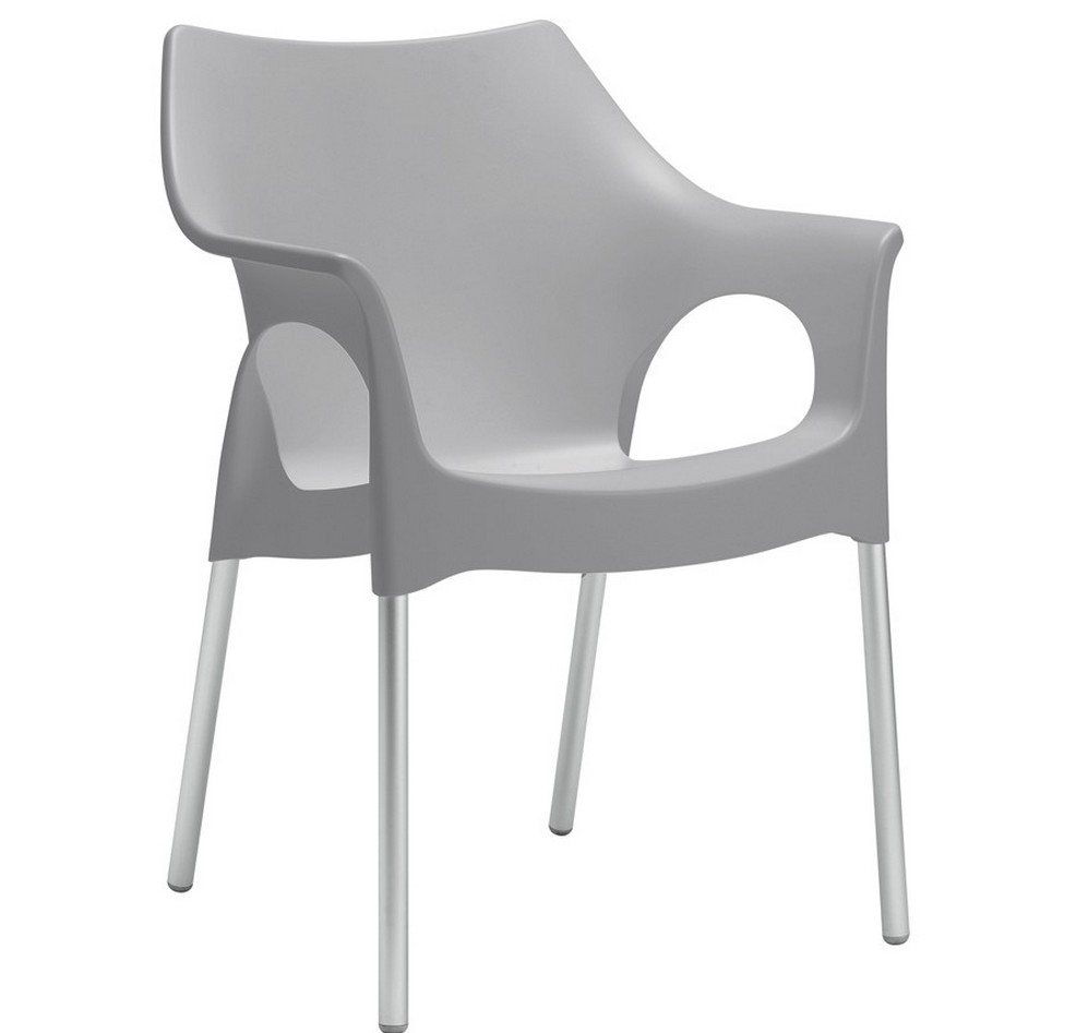 Sedia poltroncina in plastica impilabile ola di scab for Sedie outdoor design