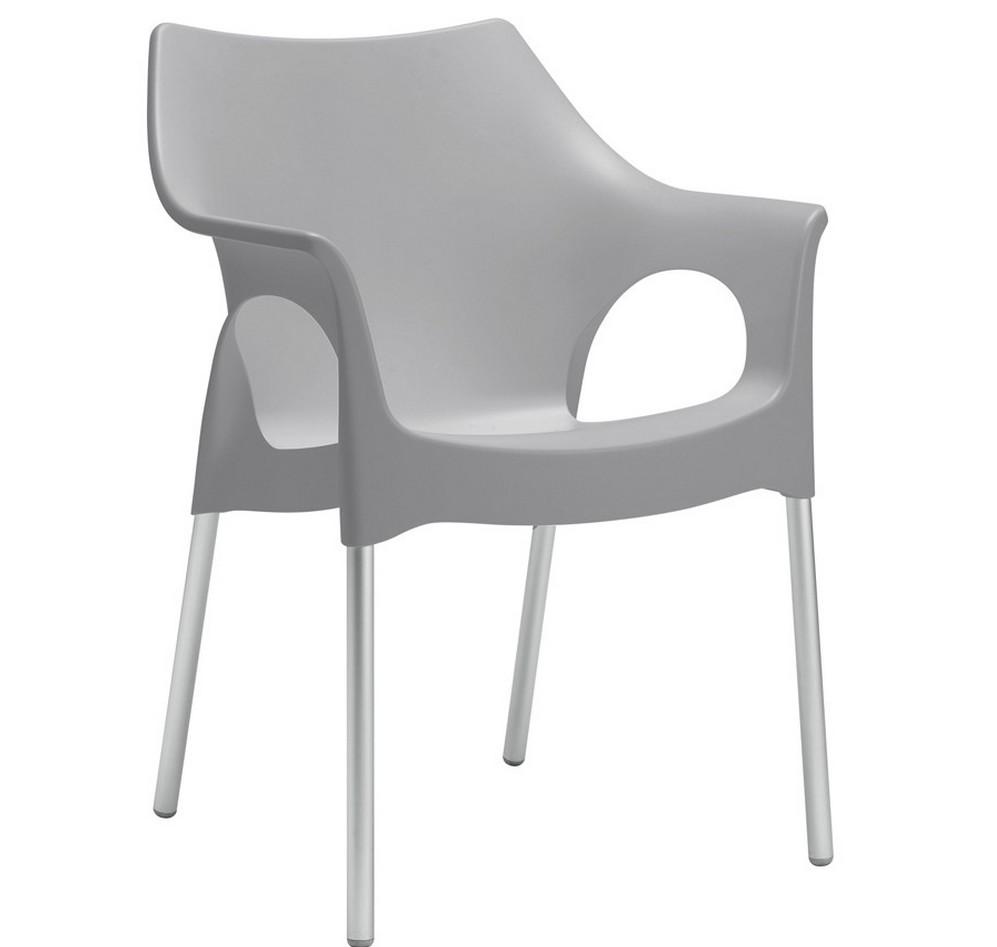 Sedia poltroncina in plastica impilabile ola di scab for Sedie design con braccioli