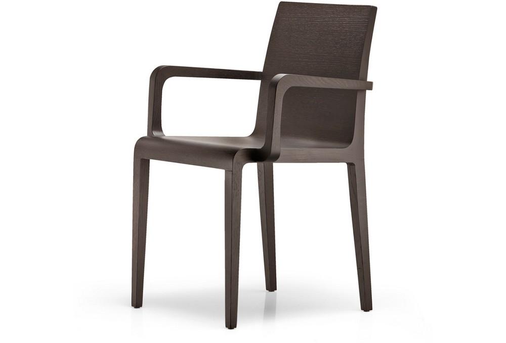 Sedia young 425 con braccioli in legno multistrato curvato for Sedia antica con braccioli
