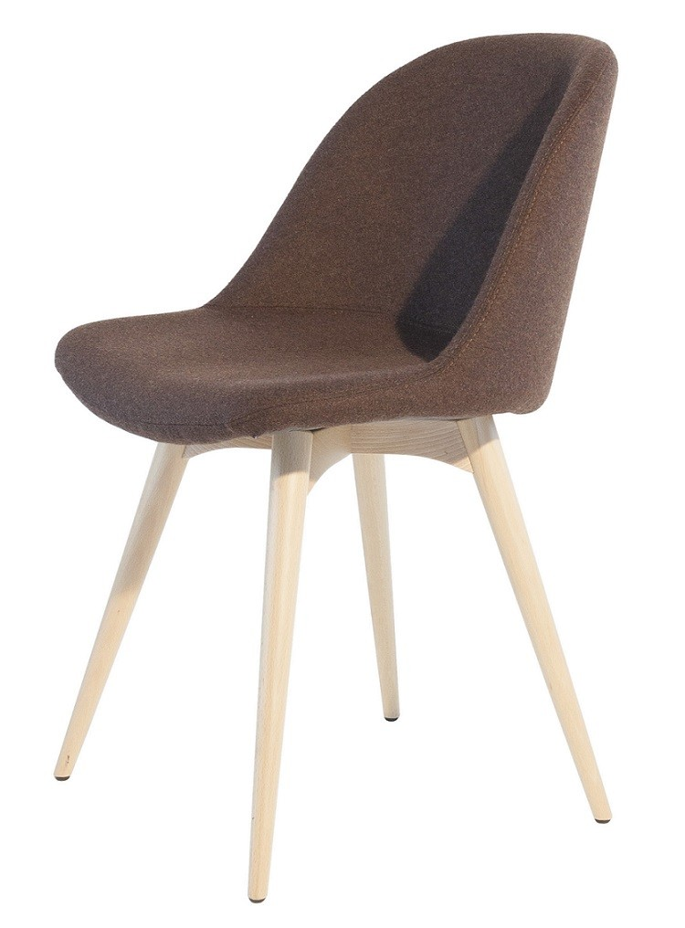 Sonny Chair By Midj With Steel Or Wood Structure Covered