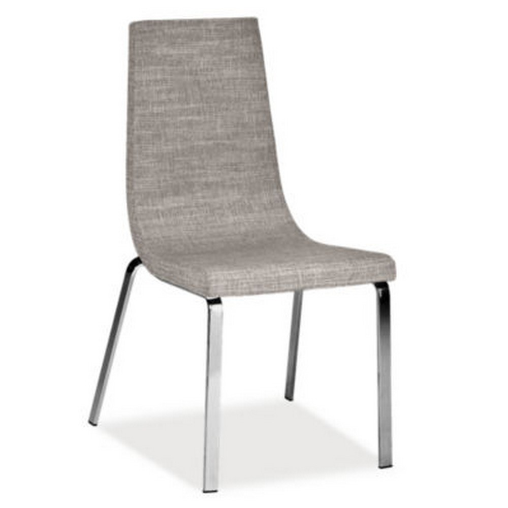 Cruiser Calligaris chair with leather seat and fabric in various ...