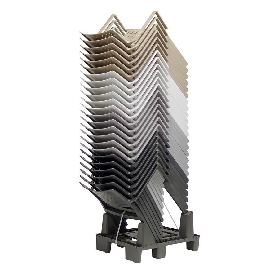 Sedia emi scab design in plastica impilabile for Sedia di design