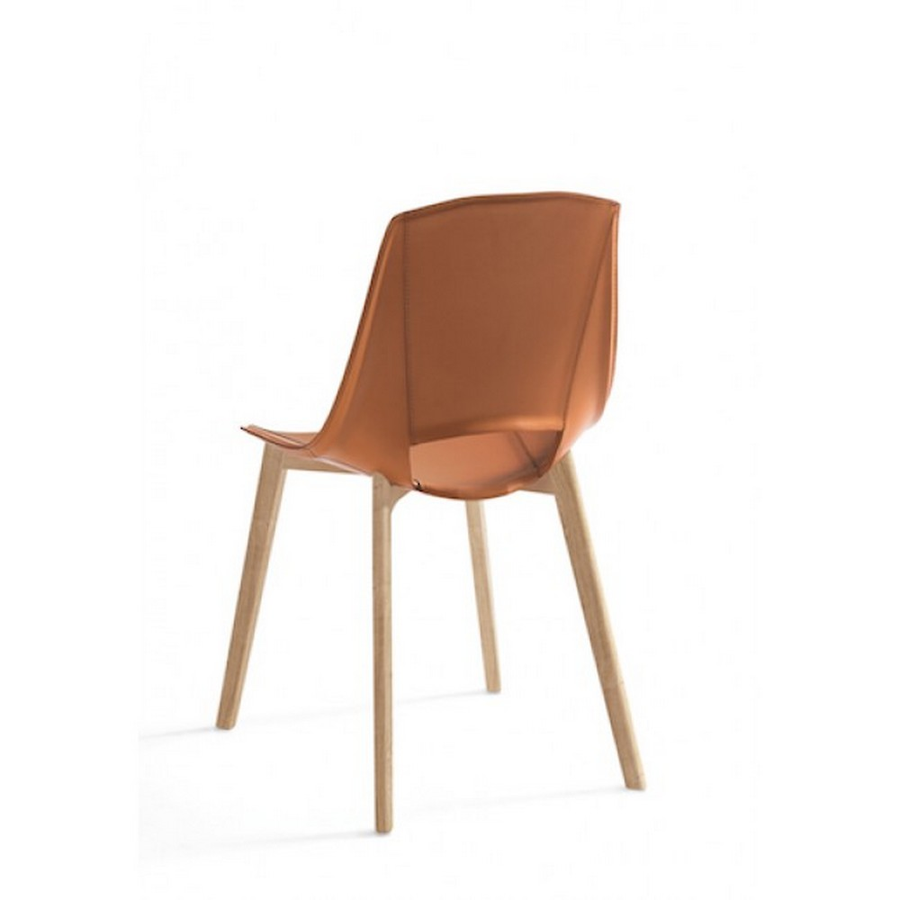 Eva Chair 5 Point Of Polypropylene And Leather With